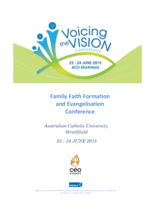 Voicing the Vision: Family Faith and Evangelisation Conference.