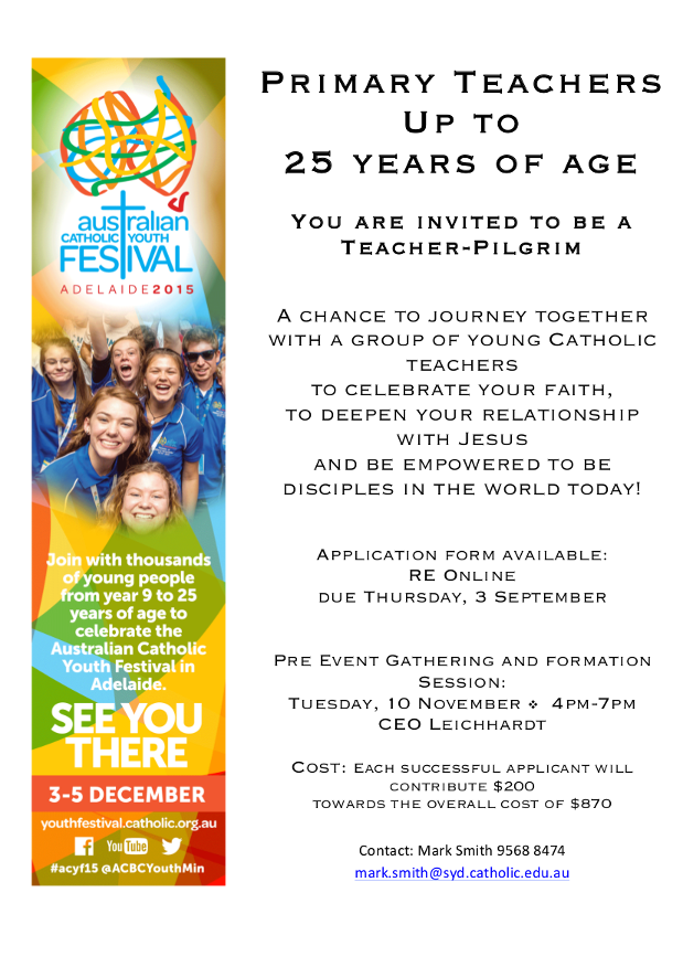 adelaide youth fest flyer with white background