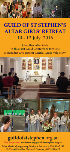 Guild of St Stephen's Altar Girls Retreat 2016